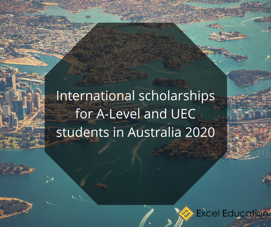 International scholarships for A-Level and UEC students in Australia 2020