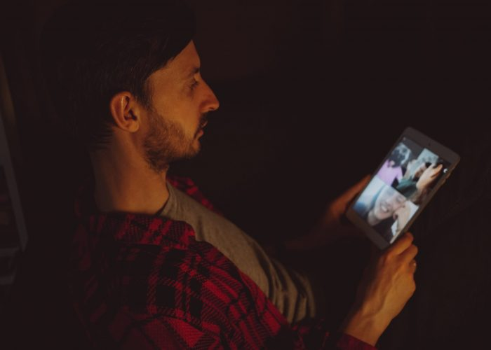 Canva - Man on video call at home_
