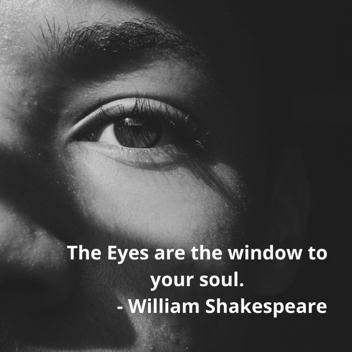 The Eyes are the window to your soul. - William Shakespeare